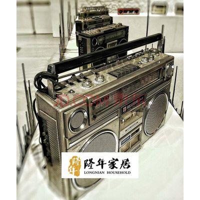 收录机手提式老录音机 老式卡带机 非模型 拍摄道具 不可使用