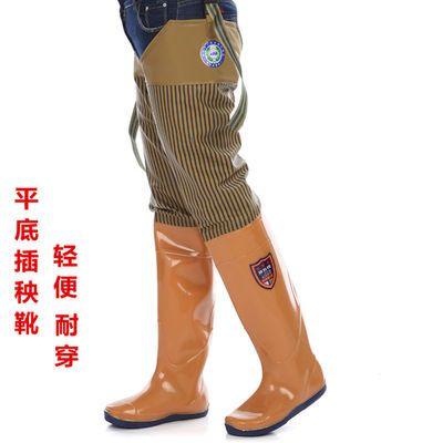 下田插秧鞋软底水田鞋插秧靴高筒厚底下水裤农田水鞋水靴防水