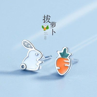 耳钉女纯银小巧气质韩国个性小雏菊简约防过敏S925耳环2020新款潮