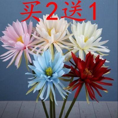 仿真花昙花 假花 古风拍摄 婚庆 道具 手捧人造花 装饰 摆件绢花