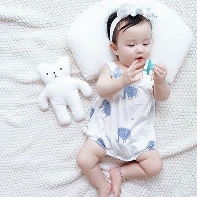 宝宝纯棉夏季睡衣肚兜婴幼儿包屁衣薄款吊带衣服新生婴儿儿小背心