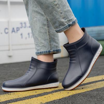 雨鞋男潮短筒雨靴防滑厚底水鞋防水厨房工作洗车钓鱼鞋男胶鞋耐磨