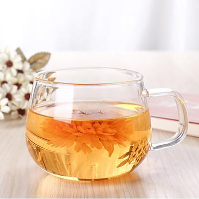 买三送一耐热玻璃水杯茶杯 花茶杯透明牛奶杯咖啡杯早餐杯果汁杯