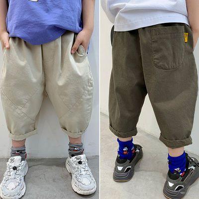 夏季男童裤子薄款儿童中裤男孩休闲七分裤中大童哈伦裤韩版萝卜裤