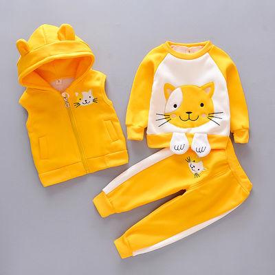 童装男童春装婴儿童休闲套装三件套0-1-4岁男女宝宝衣服春秋装