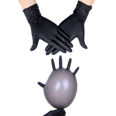 黑色防滑一次性橡胶手套防油洗碗工业工作家务用防水手套劳保男女