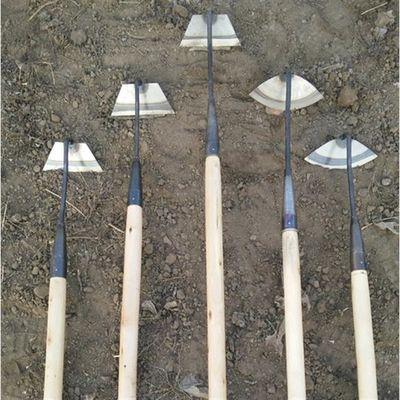 花锄草锄木柄全钢小锄头园林除草农具农用翻地松土器园艺工具种菜