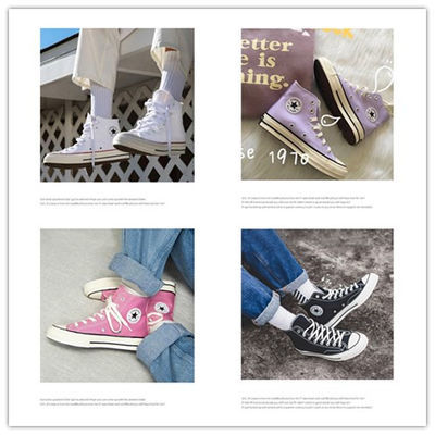 1970s香芋紫韩版女鞋男鞋休闲鞋经典款低帮高帮帆布鞋运动鞋学生