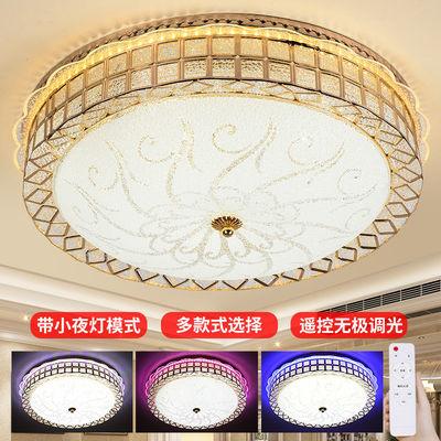吸顶灯led圆形欧式卧室灯客厅灯水晶灯具餐厅过道灯儿童鸟巢灯饰