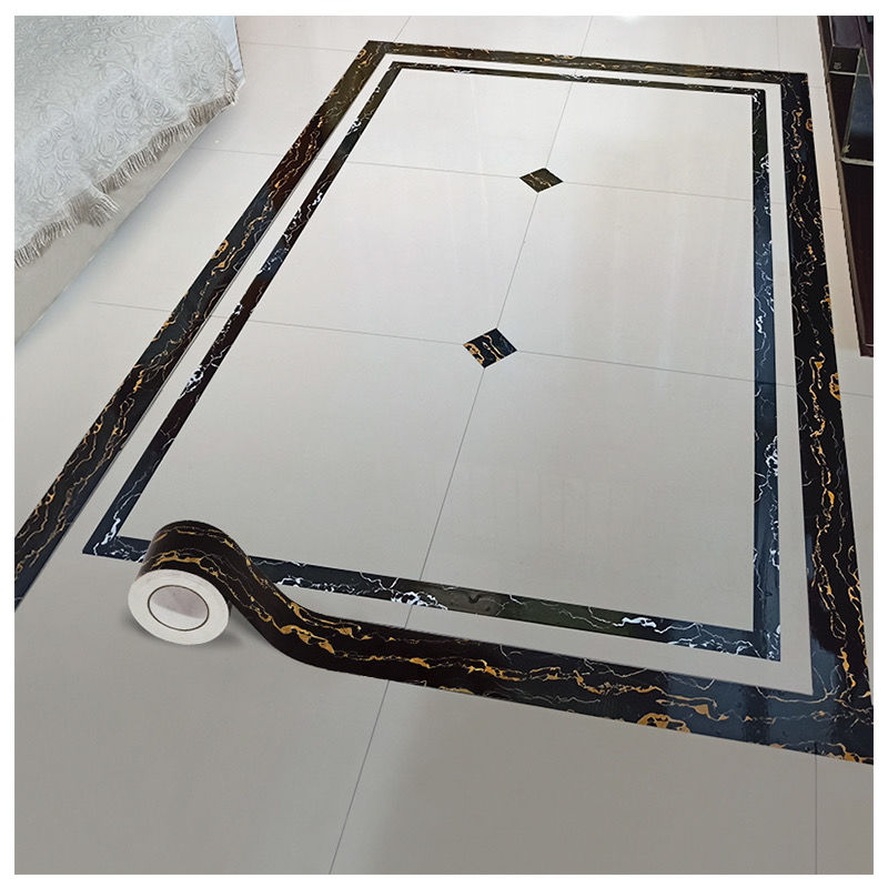 踢脚线墙贴防水自粘地脚线客厅瓷砖装饰条pvc贴纸地板波导线腰线
