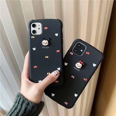 立体卡通米奇手机壳iPhone11pro创意四角防摔tpu苹果X保护套适用