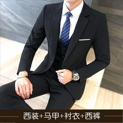 套装男士休闲西装韩版商务西服外套修身青年帅气职业正装礼服新郎