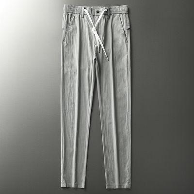 夏季男装2020新款直筒男士休闲裤冰丝修身显瘦西裤男学生潮流百搭
