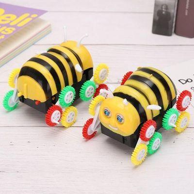 网红玩具男孩电动玩具车小蜜蜂特技翻斗车自动翻转儿童玩具小汽车