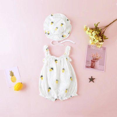 女婴儿哈衣吊带夏季宝宝连体衣夏装公主网红包屁衣服夏天薄款洋气