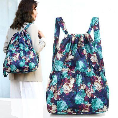 尼龙束口袋双肩包户外运动包背包学生篮球包大容量轻便旅行包女包
