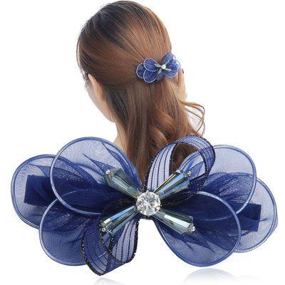 发饰韩国绢纱蝴蝶结发夹边夹顶夹弹簧夹头饰横夹鸭嘴夹盘发饰品