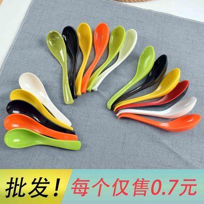 密胺勺子长柄勺塑料彩色带勾勺仿瓷拉面麻辣烫勺汤勺调羹商用餐厅