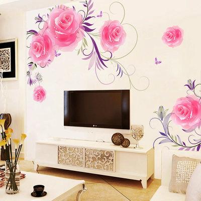 电视客厅背景墙贴纸房间温馨装饰品贴卧室墙面墙壁自粘可移除贴画