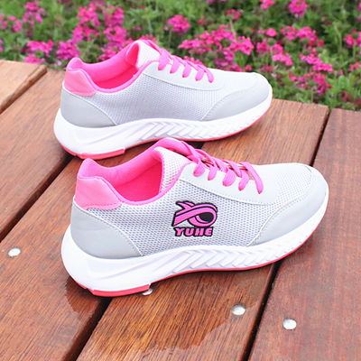 鞋子女学生韩版运动鞋透气网布春秋新款百搭平底休闲女士跑步单鞋