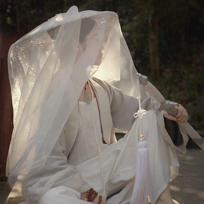 特价古风影视道具侠女斗笠影楼写真服装女斗笠幕离遮容防晒帽面纱