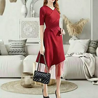 Vero Moda2020春季新款V领针织连衣裙