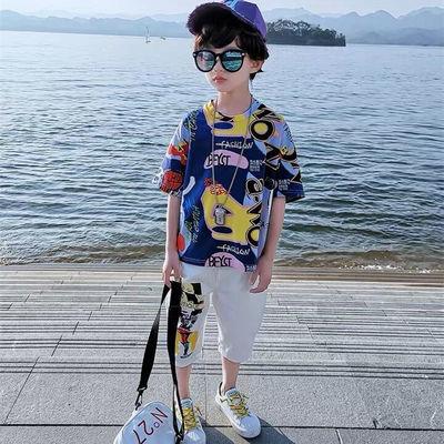 【特价清仓】童装男童夏装套装2020新款儿童小男孩衣服夏天韩版短