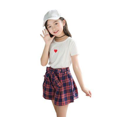 【特价清仓】潮童装女童夏装2020新款韩版时髦短袖套装裙小女孩洋