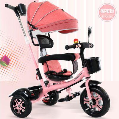 儿童三轮车手推车1-6岁男女孩宝宝脚踏车大搁脚板可推可骑座可调