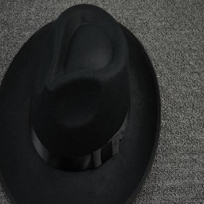 上海滩男士复古黄晓明同款黑色大沿爵士礼帽许文强帽舞台表演帽子