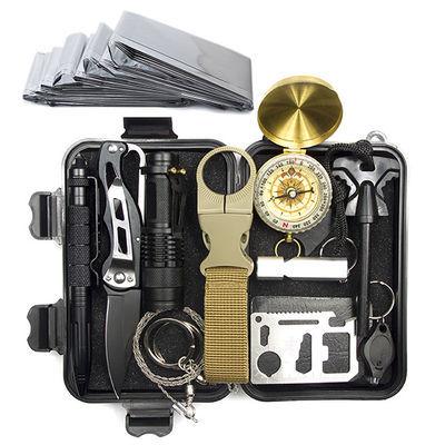 野外生存打火石镁棒SOS荒野求生工具盒户外野营装备应急探险用品