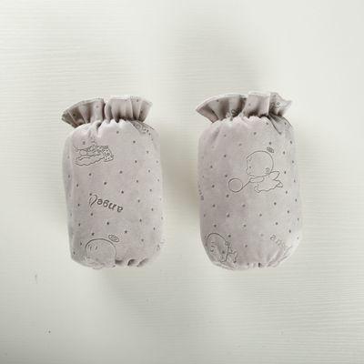 3双装儿童袖套婴儿纯棉袖套宝宝双层防水护袖套超长18厘米1-5岁