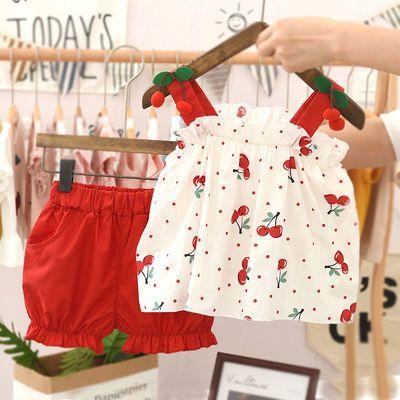 【特价清仓】小女孩套装时髦洋气网红女童装2020新款夏装女宝宝衣