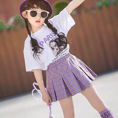 【特价清仓】童装女童夏装2020新款夏季儿童时髦洋气套装女大童T