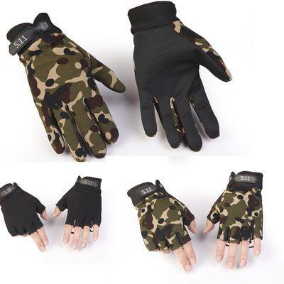 511长指半指战术手套 户外健身骑行运动开车男女手套防滑透气防晒