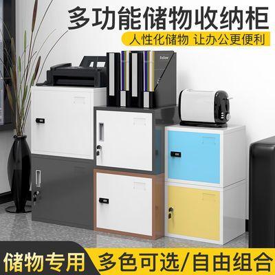 文件柜铁皮柜办公小柜子矮柜家用密码锁储物柜桌下小型带锁资料柜