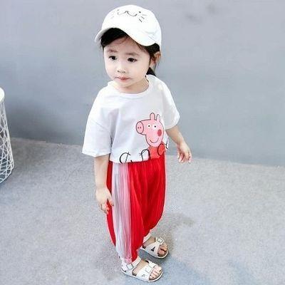 【特价清仓】夏装新款童装2020新款女宝童防蚊裤两件套小童套装潮