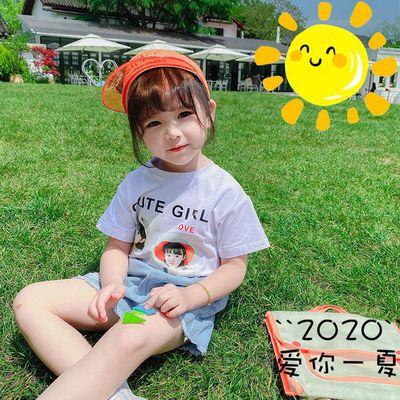【特价清仓】【上衣+裤子】童装女童套装夏短袖T恤儿童牛仔短裤夏