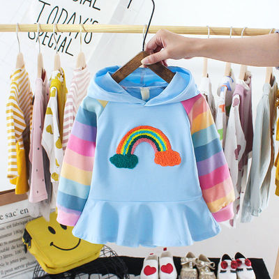 2020爆款女宝宝0--4岁秋装牛仔网纱裙女童韩版假两件裙子婴幼儿洋