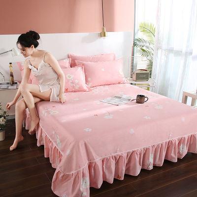 韩式公主风100%纯棉床裙三件套全棉枕套单件床罩床单床笠保护套