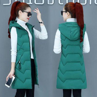 马甲女冬2019新款棉服学生修身显瘦羽绒棉马夹背心坎肩中长款外套