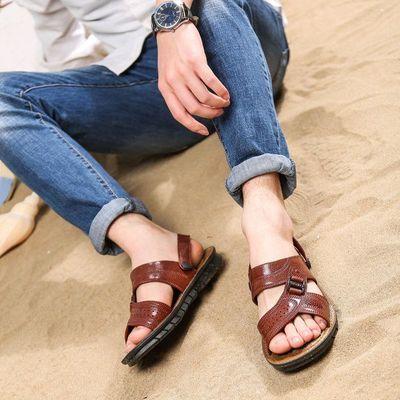 【穿坏包赔】夏季防水防滑凉鞋男士软底耐磨凉拖两用透气凉鞋拖男