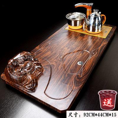 大中号茶盘茶托木质茶台茶海功夫茶具套装连体自动玻璃电器2020新