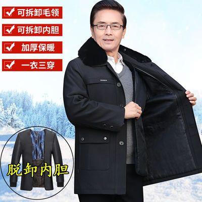 中老年棉衣男装冬季外套加绒加厚爸爸装棉服中长款老年人男士棉袄