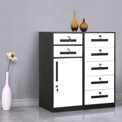 文件柜铁皮矮柜办公室桌下资料收纳柜储物柜抽屉柜带锁床头小柜子