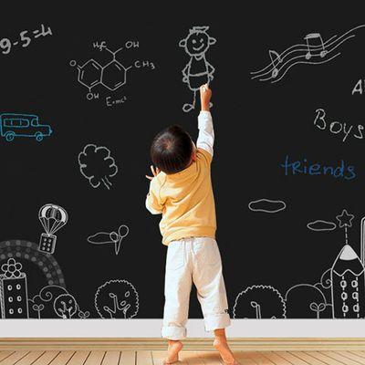 加厚黑板贴白板贴可擦写儿童教学涂鸦绿板贴自粘可移除墙贴纸孩子