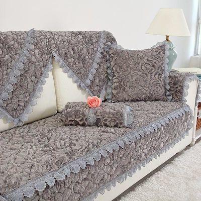 毛绒沙发垫可机洗欧式防滑冬定做客厅沙发套沙发巾全罩沙发坐垫子