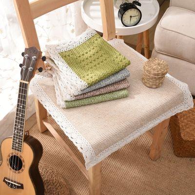 四季坐垫亚麻椅子垫方办公室坐垫椅垫餐椅坐垫包邮多种颜色可选