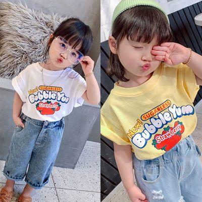 【特价清仓】2020儿童装新品女童夏装打底衫t恤短袖小孩子宝宝衣