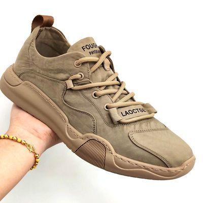 花花公子国际新款男鞋冰丝透气舒适帆布百搭运动鞋潮布鞋韩版